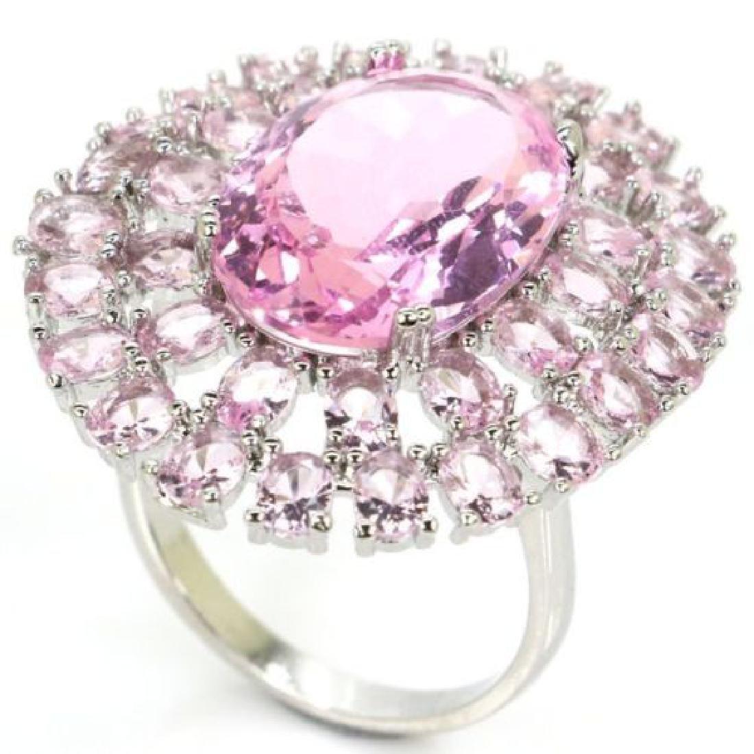 Pink Kunzite, Silver Ring Us sz8.5 - 2