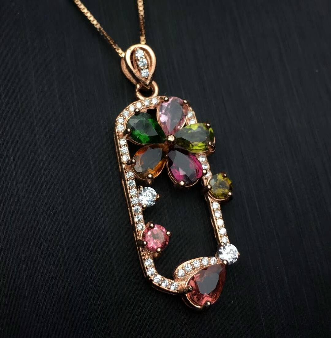 4.5ct Tourmaline Pendant in 925 Silver