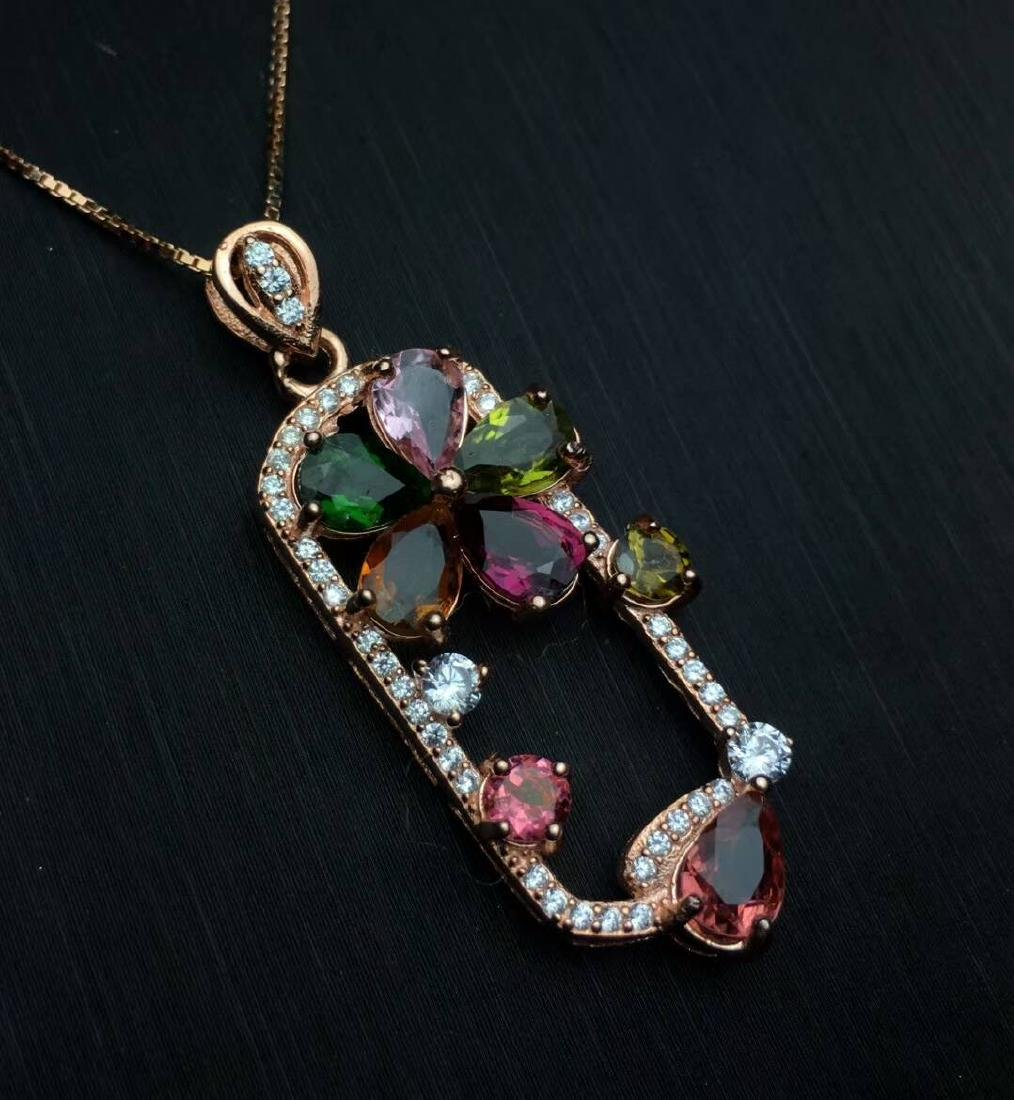 4.5ct Tourmaline Pendant in 925 Silver - 7