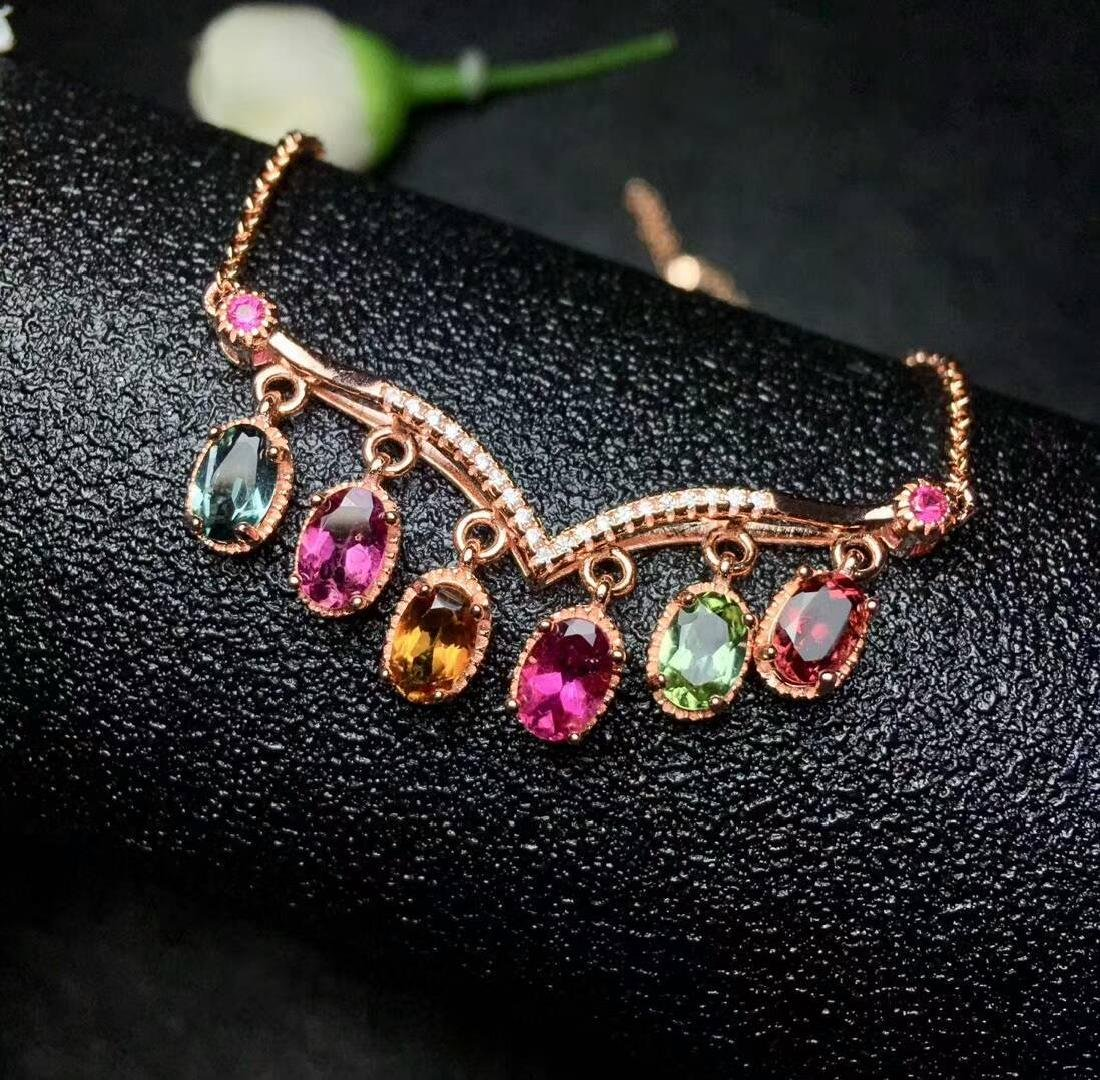 3ct Tourmaline Necklace in 925 Silver
