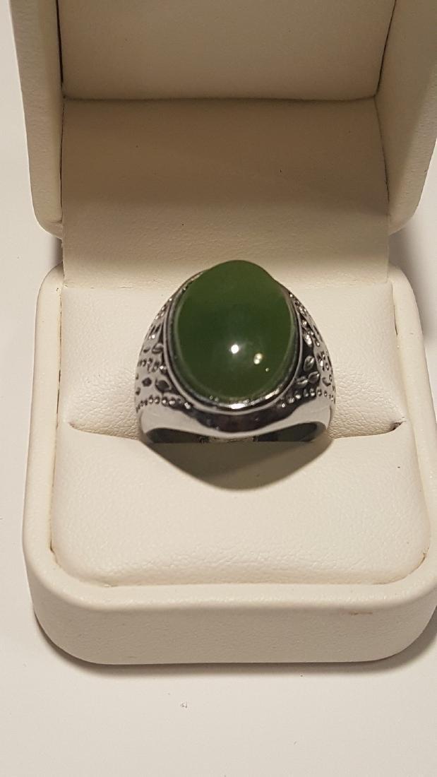 Silver Jade Ring
