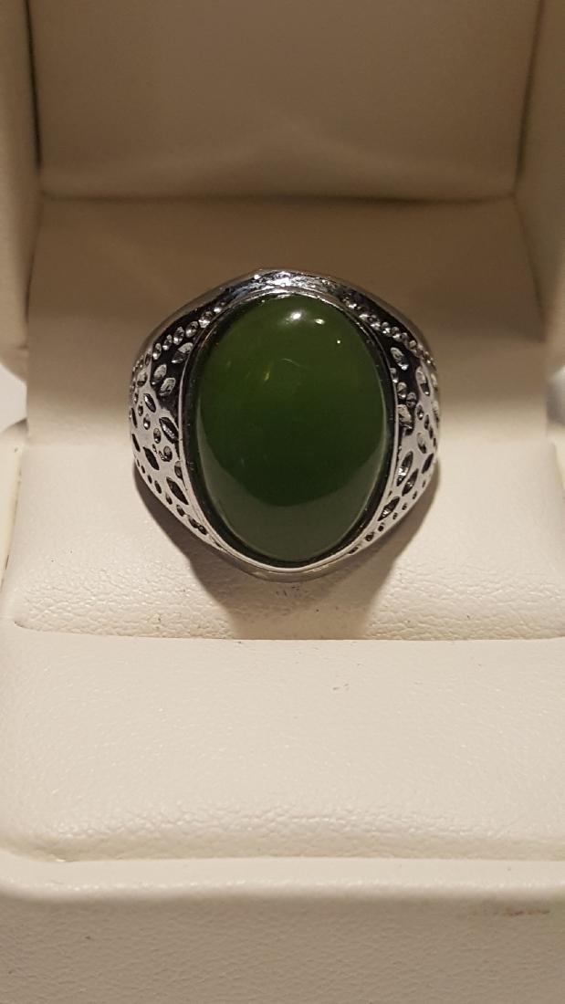 Silver Jade Ring - 2