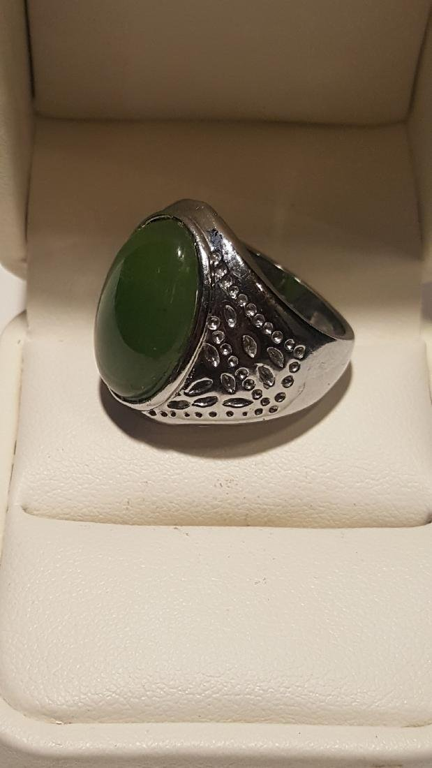 Silver Jade Ring - 3