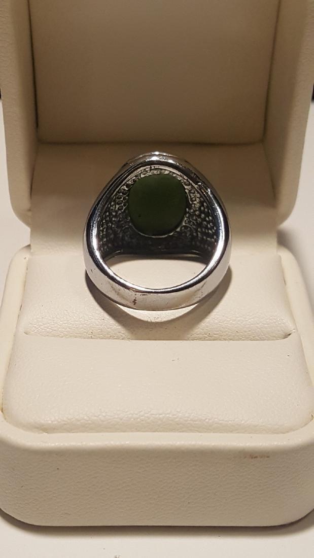 Silver Jade Ring - 4