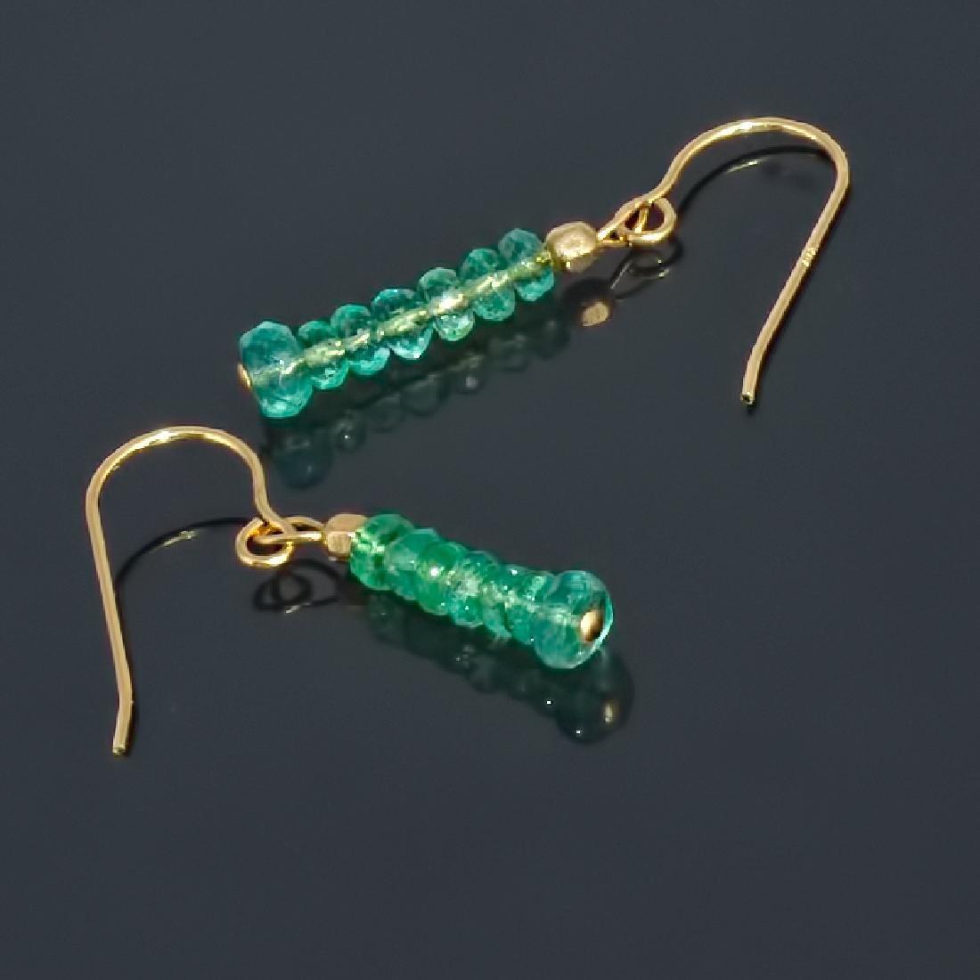 14K Earrings with Colombian Emeralds