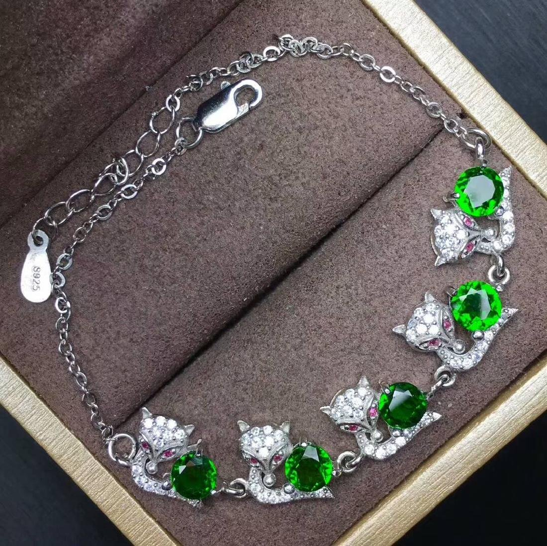4ct Diopside Bracelets in 925 Silver
