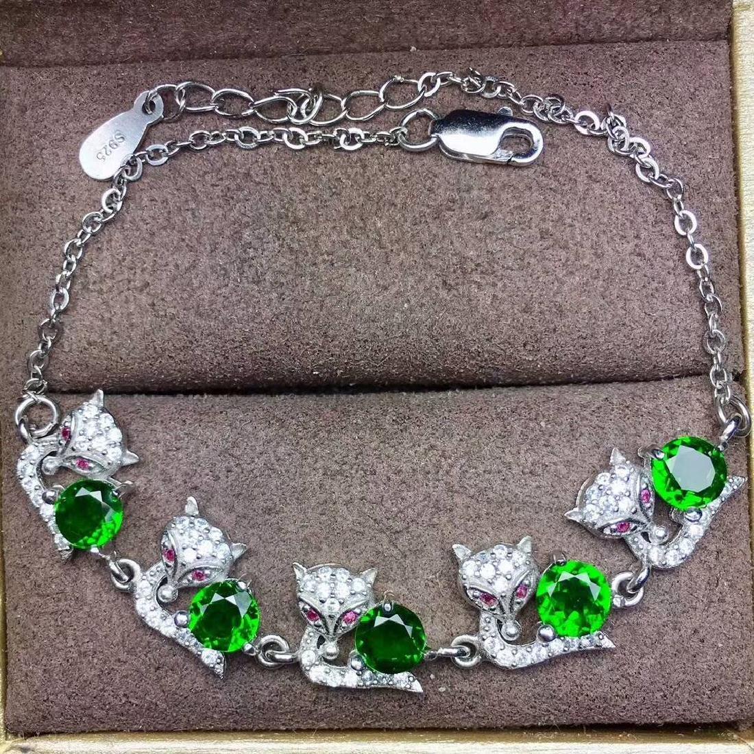4ct Diopside Bracelets in 925 Silver - 2