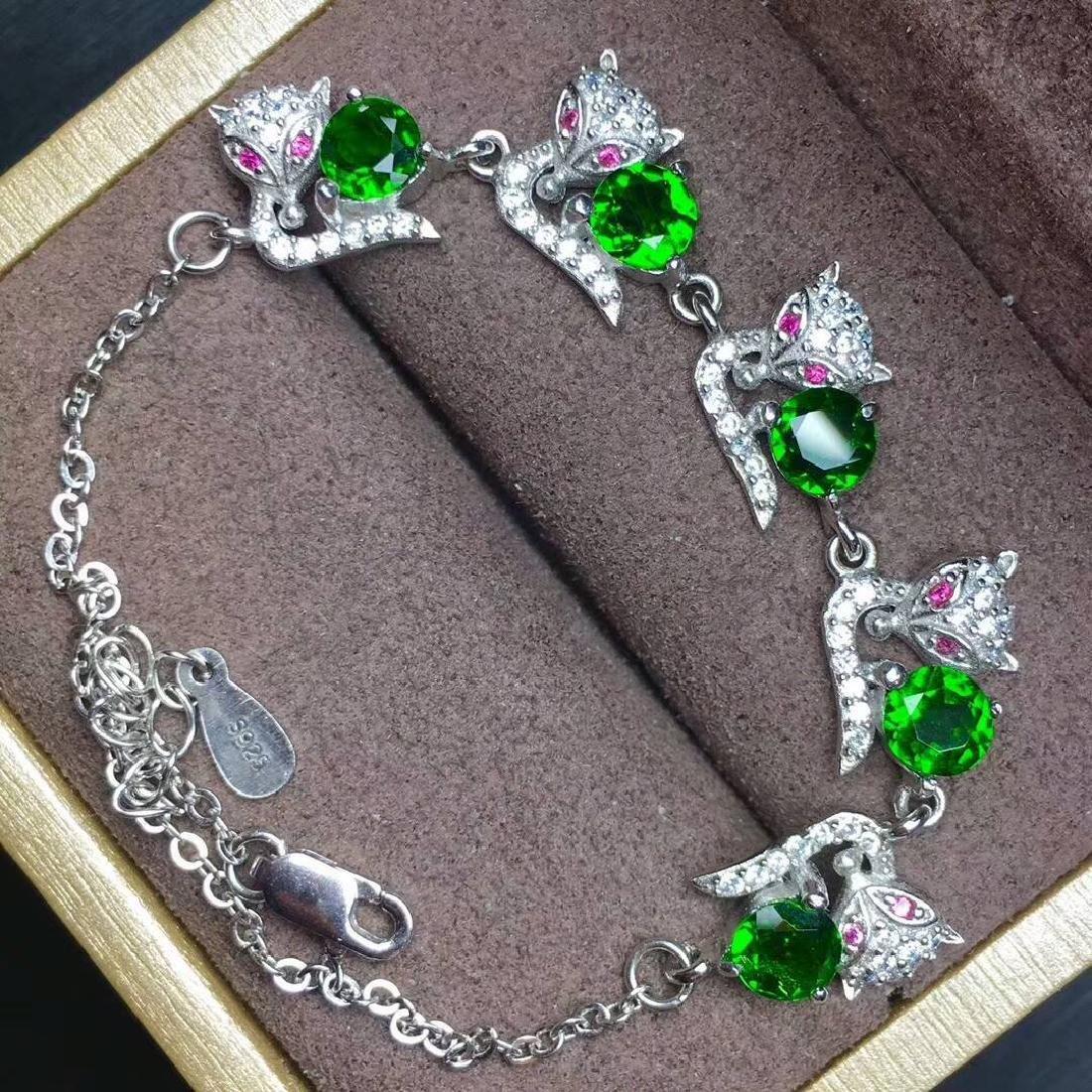 4ct Diopside Bracelets in 925 Silver - 3