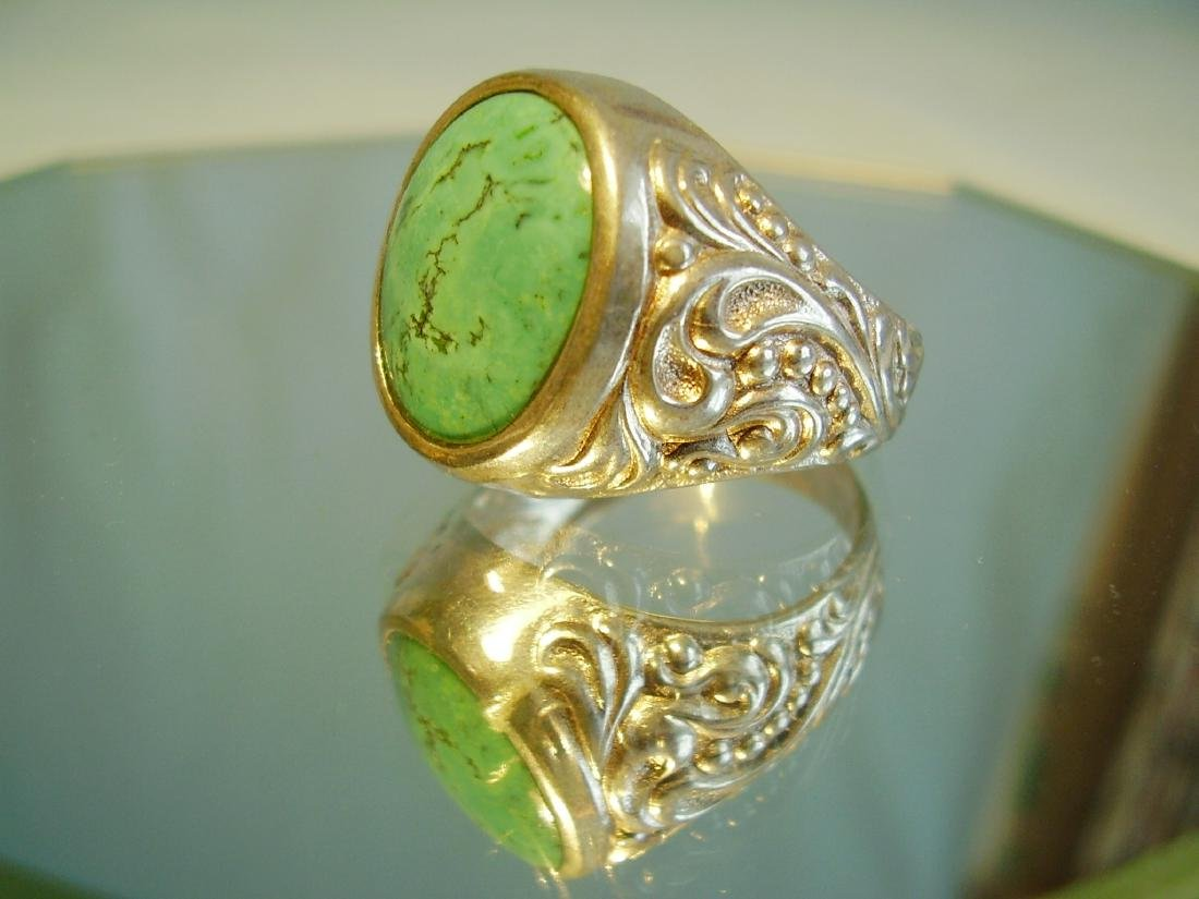 Silver Ring with natural turquoise