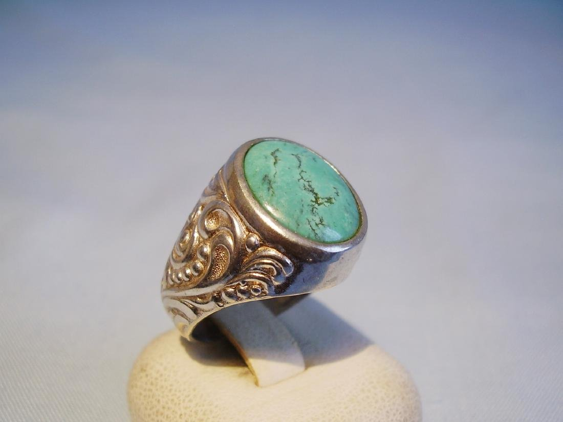 Silver Ring with natural turquoise - 2