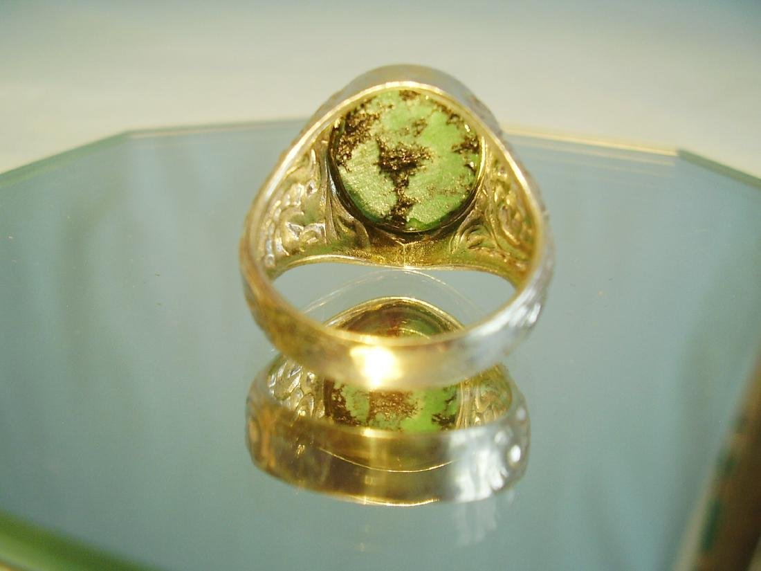 Silver Ring with natural turquoise - 4