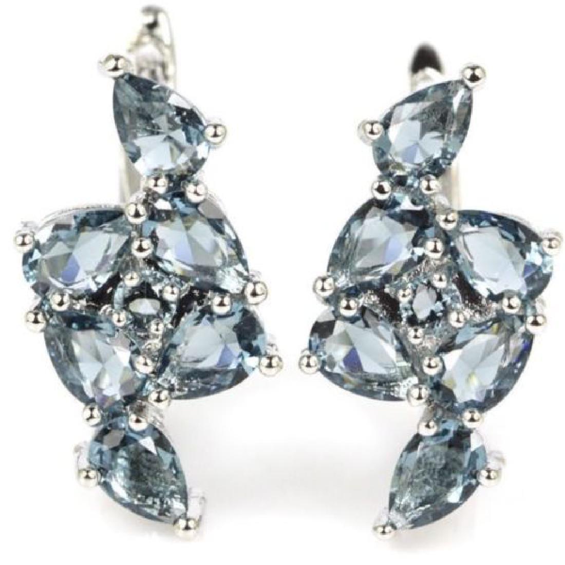 London Blue Topaz Silver Earrings