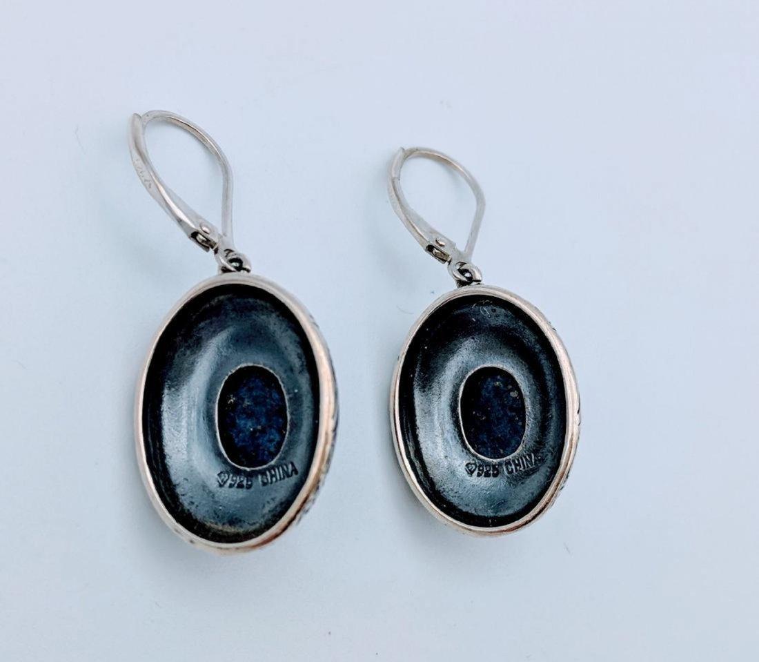 Sterling Silver Lapis Lazuli Earrings - 2