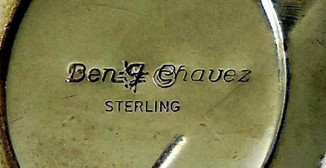 Native American Sterling Silver & Charoite Earrings - 6