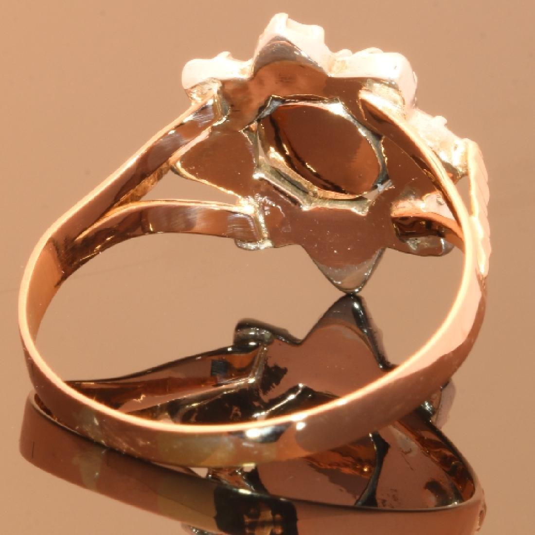 Antique 18K Gold Rose Cut Diamond Ring, c1780 - 2