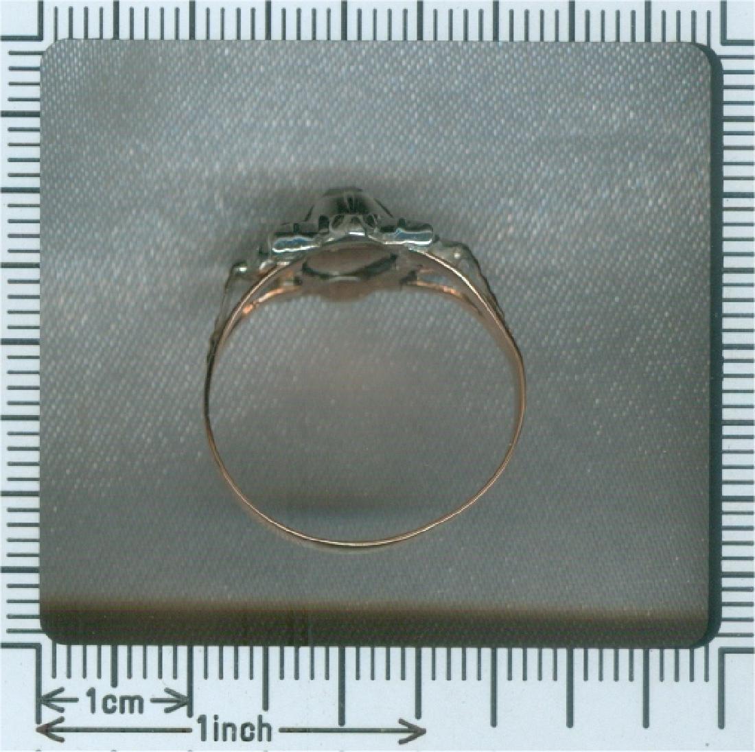 Antique 18K Gold Rose Cut Diamond Ring, c1780 - 4
