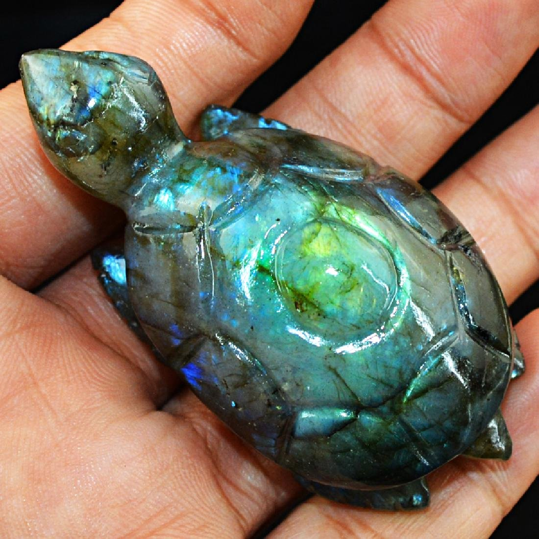 Blue Flash Labradorite Turtle