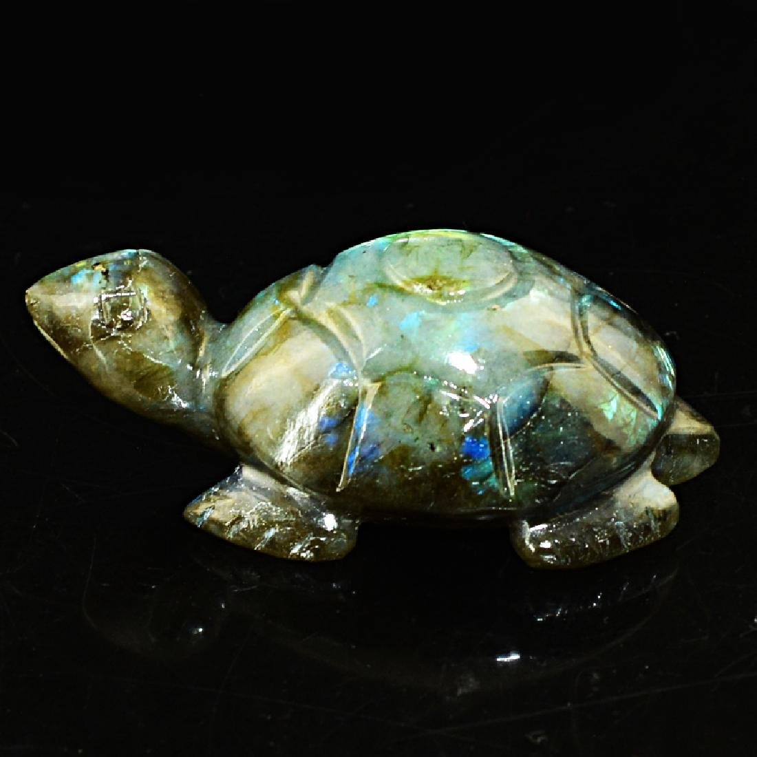 Blue Flash Labradorite Turtle - 2
