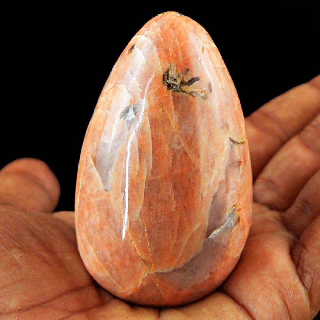 Peach Moonstone Egg