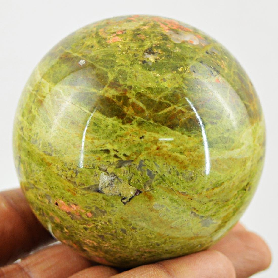 Blood Green Unakite Healing Ball - 2