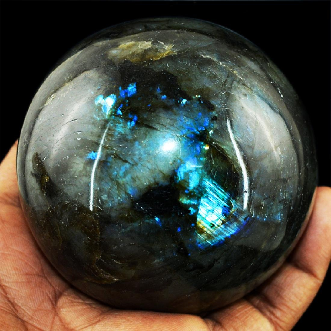 Blue Flash Labradorite Healing Ball - 2