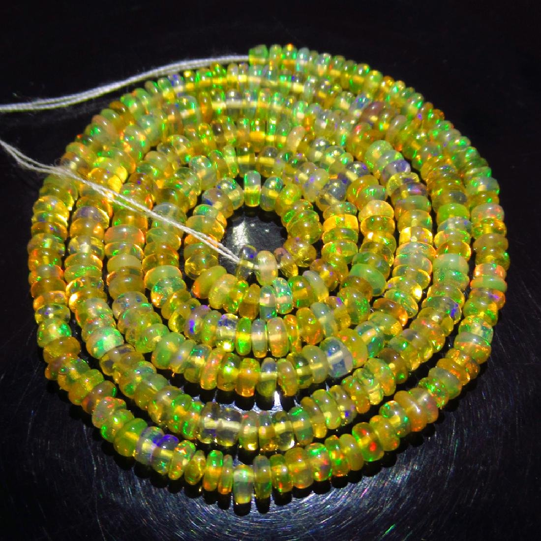 24.36 Ctw Natural 308 Loose Drilled Fire Opal Beads