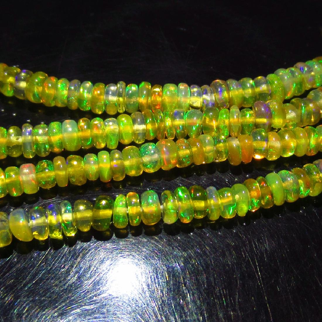 24.36 Ctw Natural 308 Loose Drilled Fire Opal Beads - 2