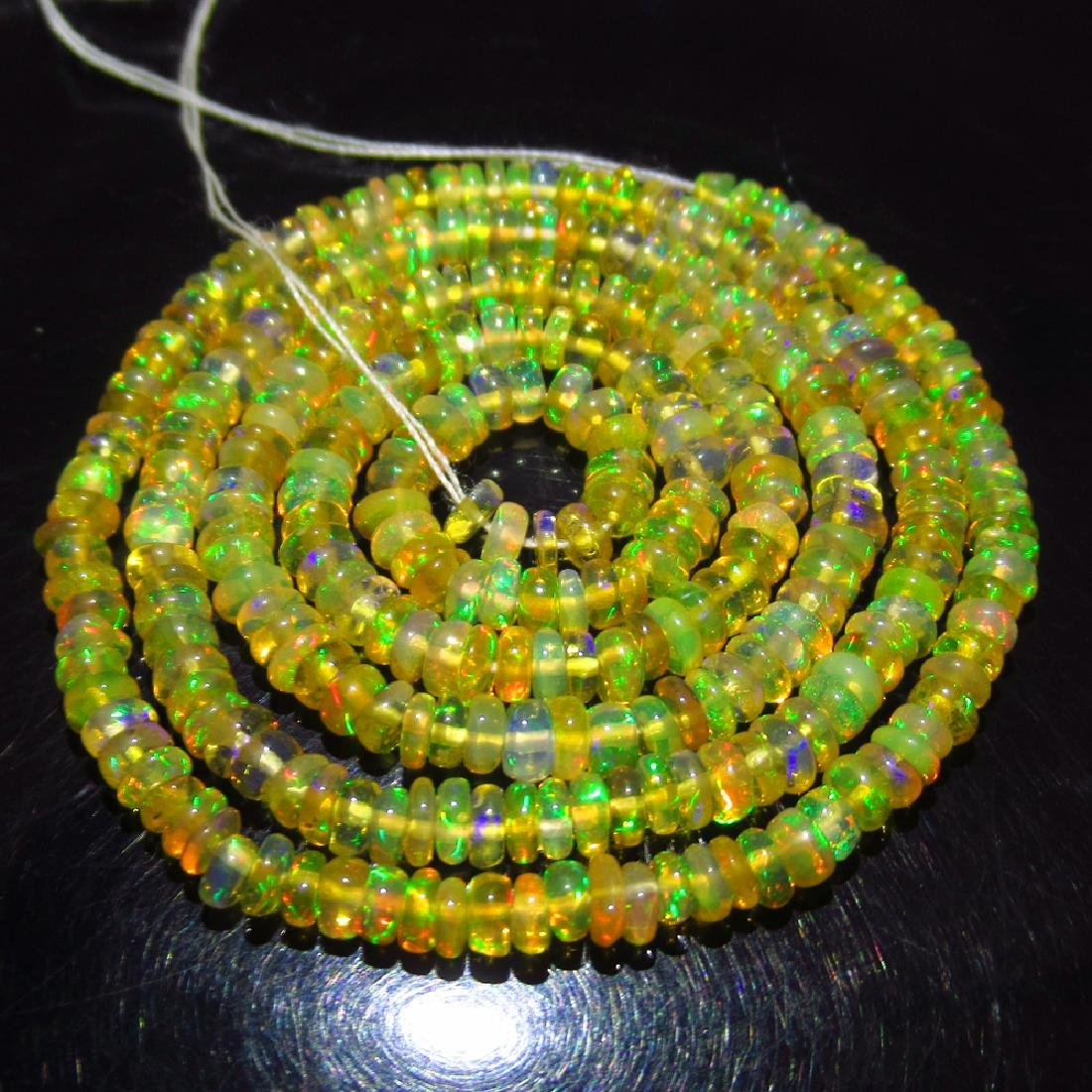 24.36 Ctw Natural 308 Loose Drilled Fire Opal Beads - 3