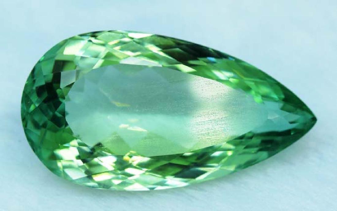 36.55 cts lush green color kunzite loose gemstone