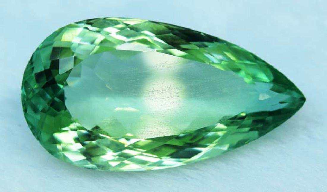 36.55 cts lush green color kunzite loose gemstone - 2