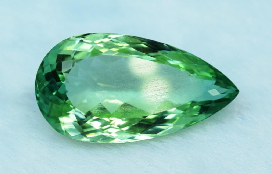 36.55 cts lush green color kunzite loose gemstone - 3