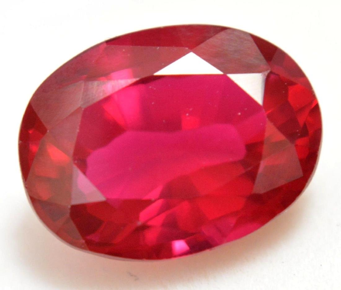 9.15 Ct Natural Red RUBY  AGSL Certified Oval Cut