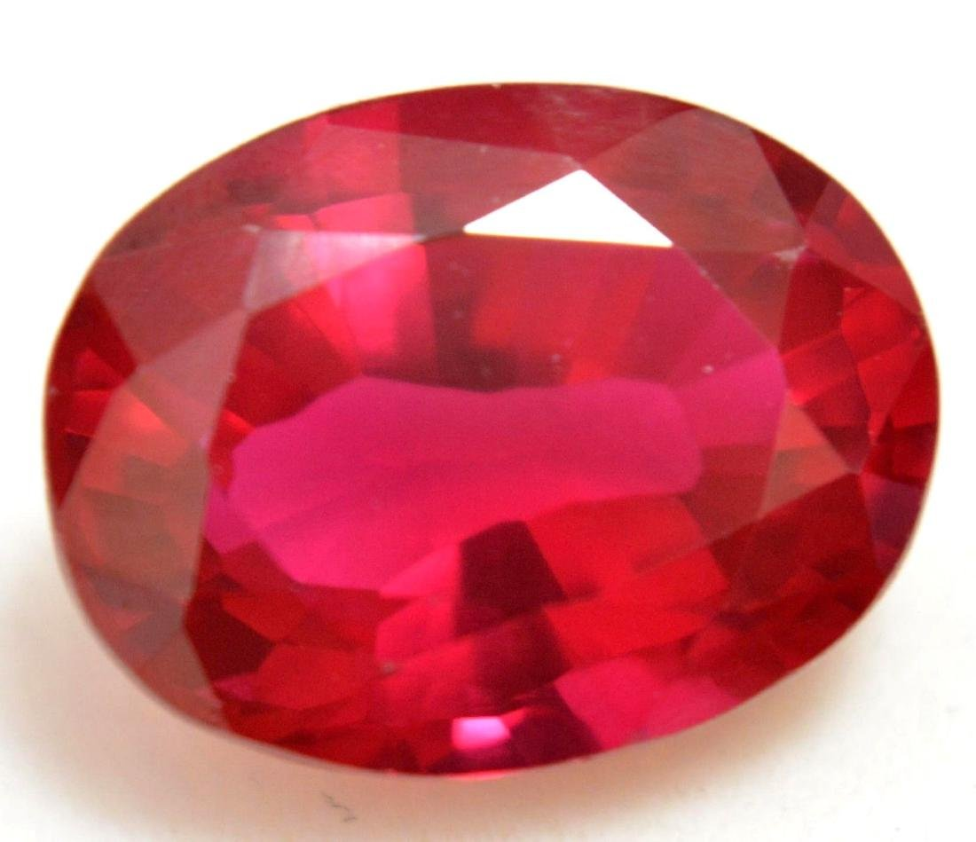 9.15 Ct Natural Red RUBY  AGSL Certified Oval Cut - 2