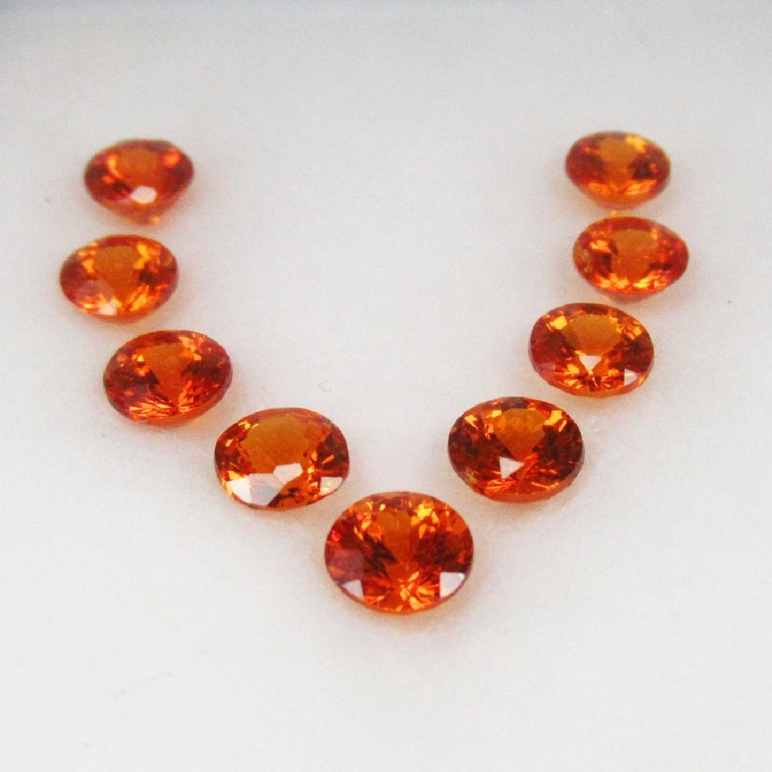 4.69 Ct 9 Loose Spessartine Garnet Necklace Set - 2