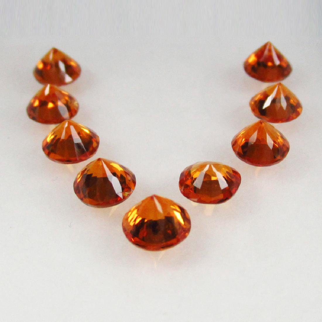 4.69 Ct 9 Loose Spessartine Garnet Necklace Set - 3