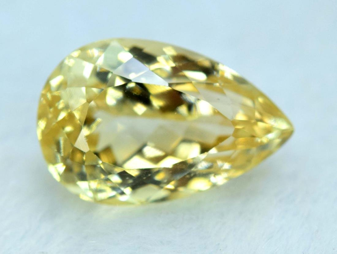 11.05 cts yellow color triphane kunzite loose gemstone