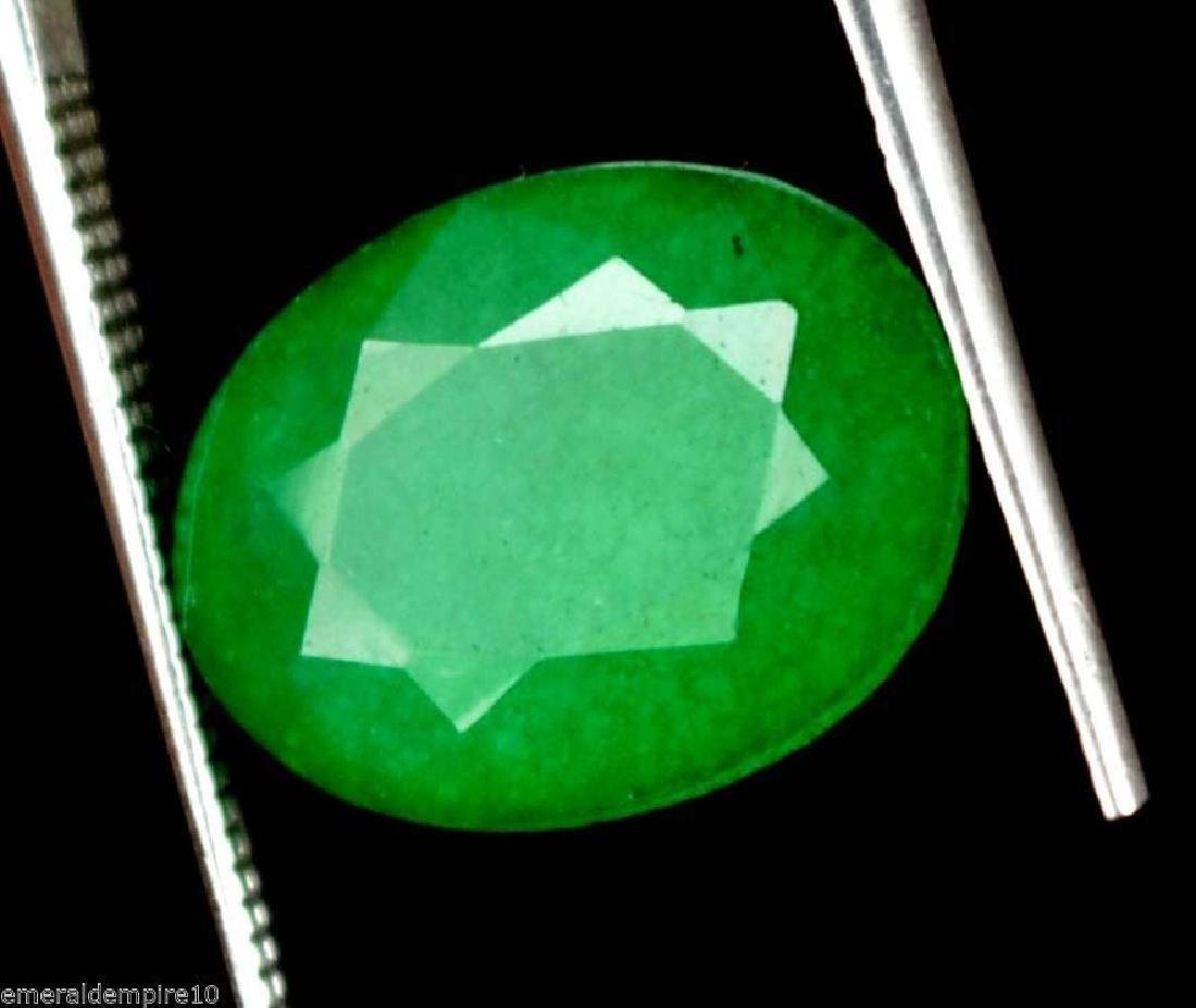 7.20 Ct Natural IGL Certified Green Emerald - 2
