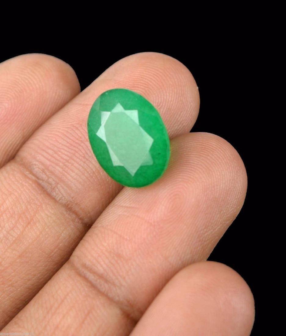 7.20 Ct Natural IGL Certified Green Emerald - 3