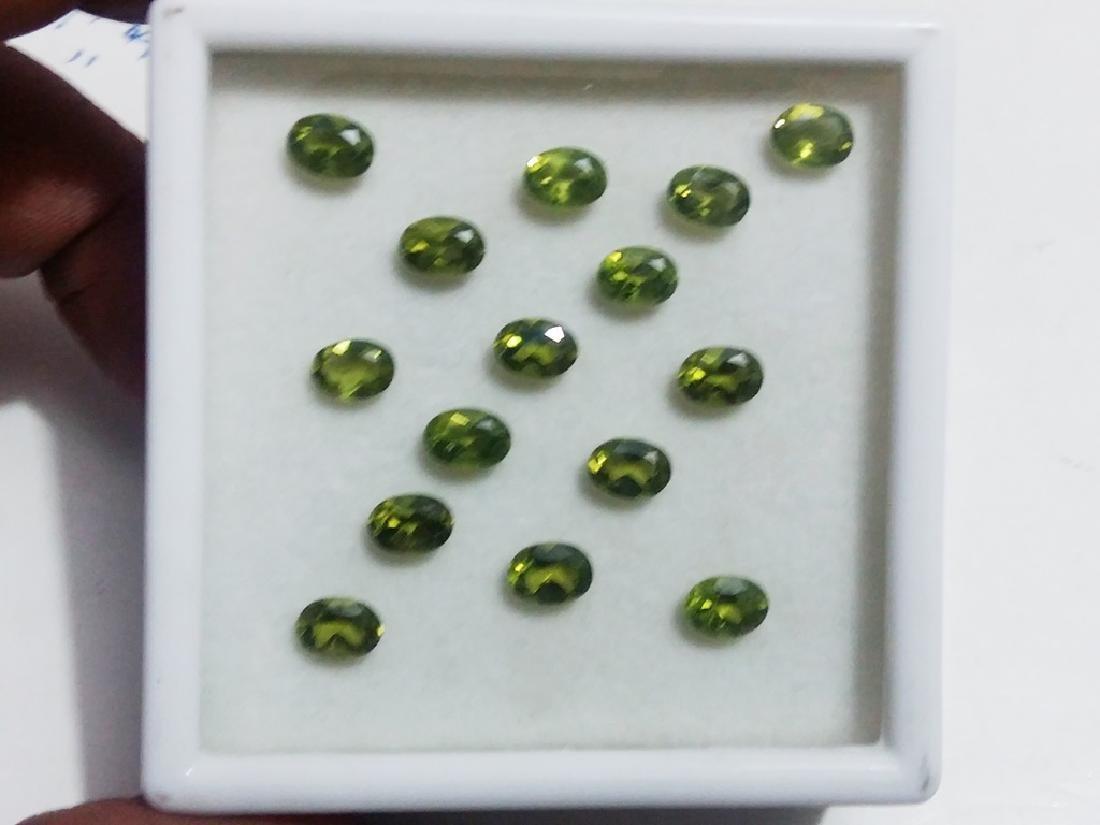 Natural Green Oval Peridot Gemstone Wholesale Lot - 2