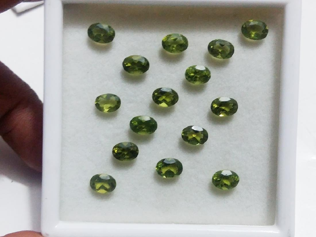 Natural Green Oval Peridot Gemstone Wholesale Lot - 3