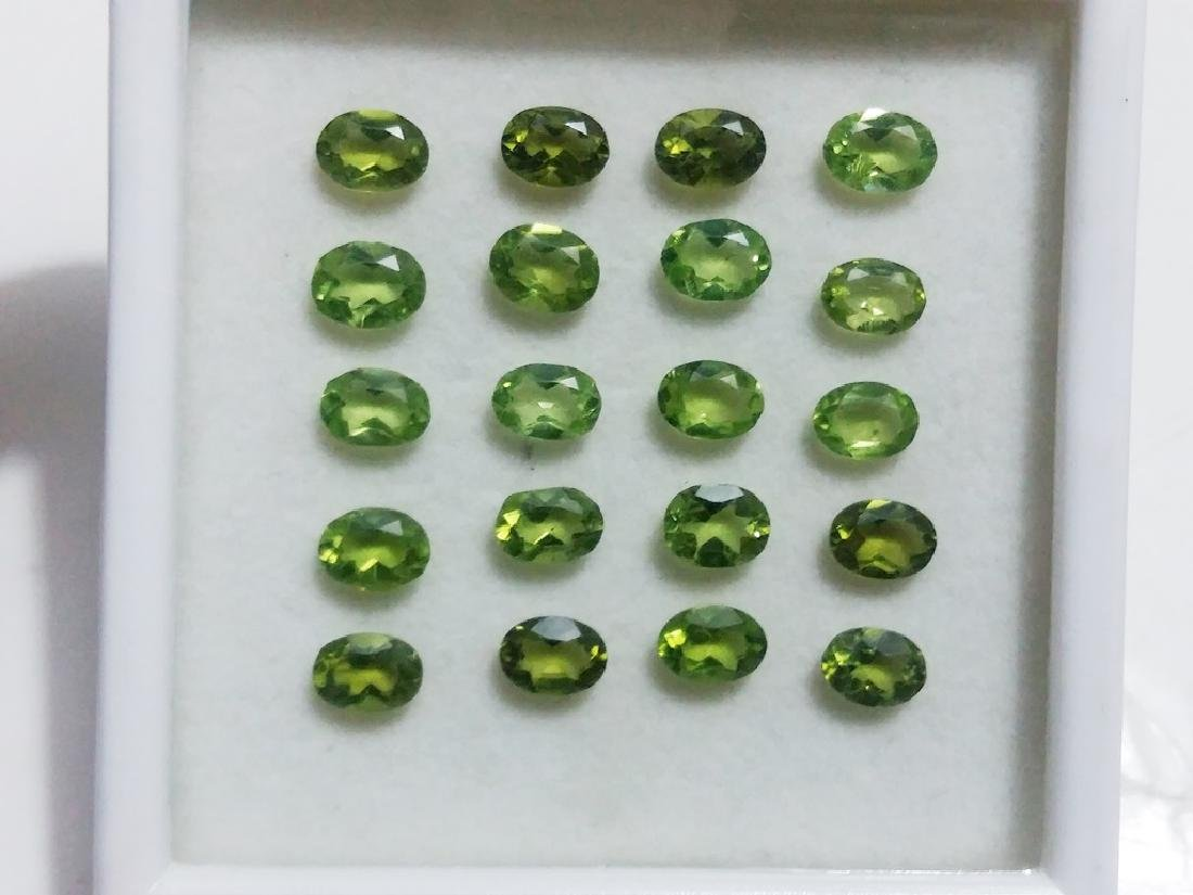 Natural Green Oval Peridot Gemstone Wholesale Lot - 4