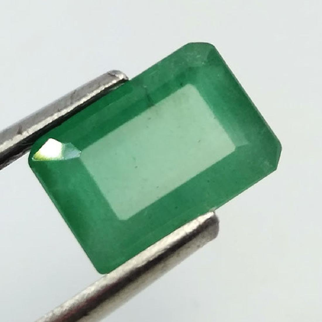 2.27CT 100%NATURAL UNHEATED ZAMBIAN EMERALD OCTAGON CUT - 6