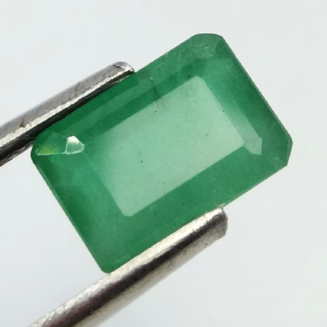 2.27CT 100%NATURAL UNHEATED ZAMBIAN EMERALD OCTAGON CUT - 8