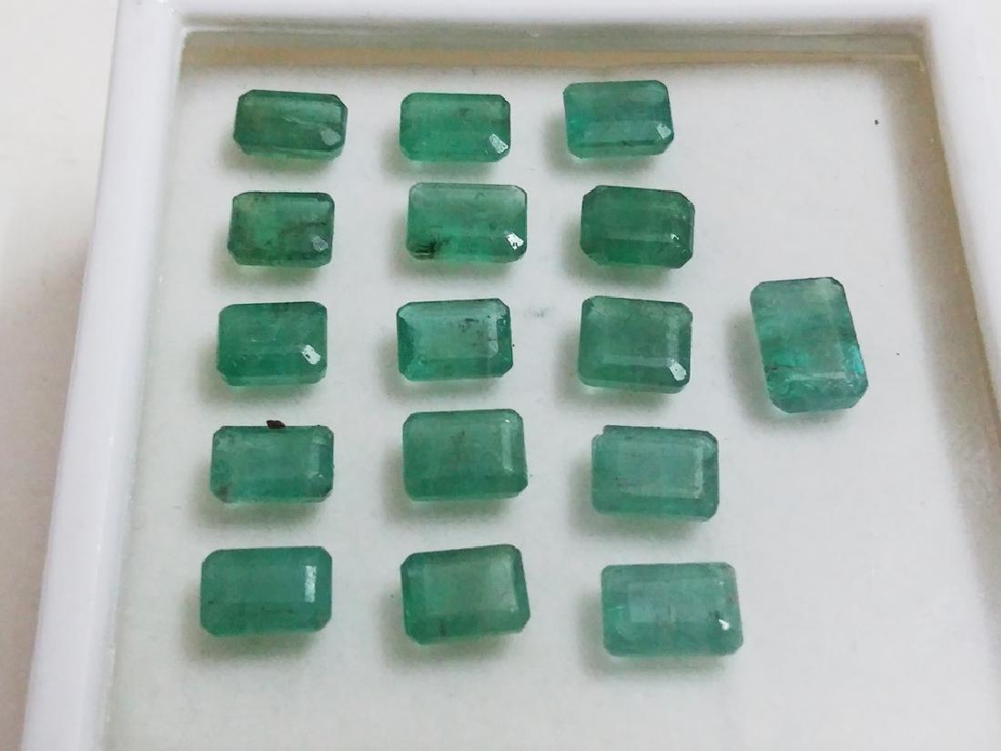Natural Emerald Cut  Colombian Emerald Gemstone