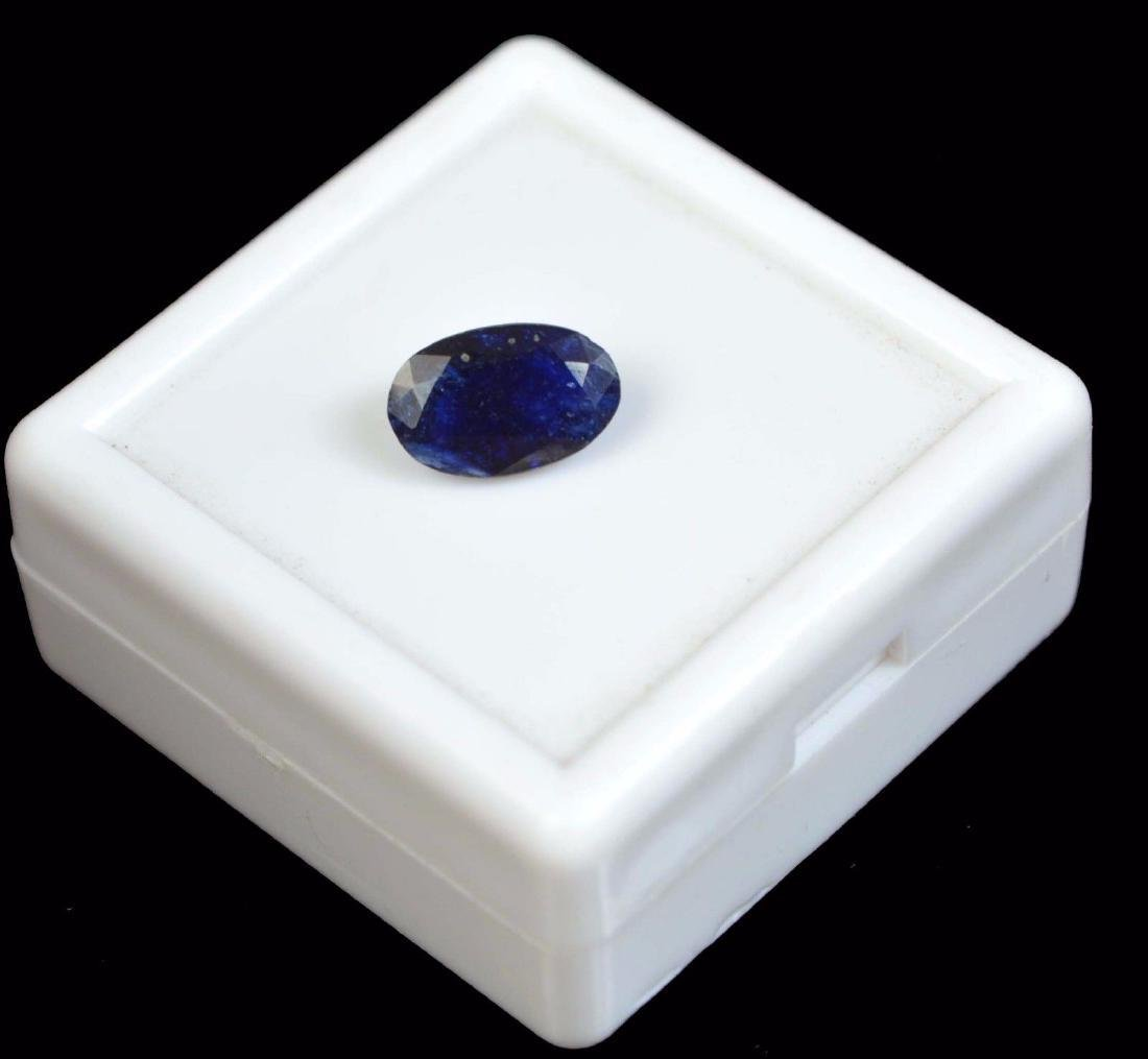 3.25 CT Natural  IGL Certified Blue Sapphire - 2