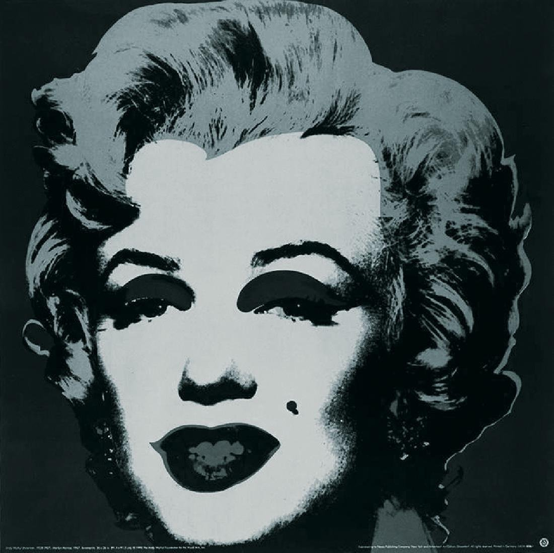 4 Assorted Andy Warhol Marilyn Monroe Large Posters - 3