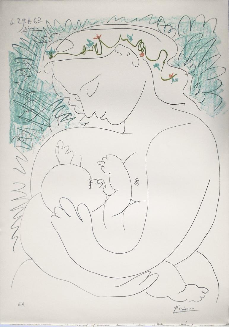Pablo Picasso Grande Maternité, 1963 Color Lithograph