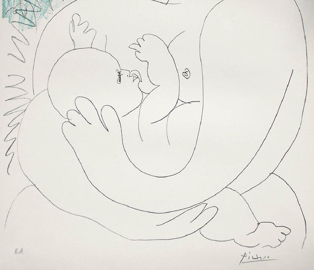 Pablo Picasso Grande Maternité, 1963 Color Lithograph - 3