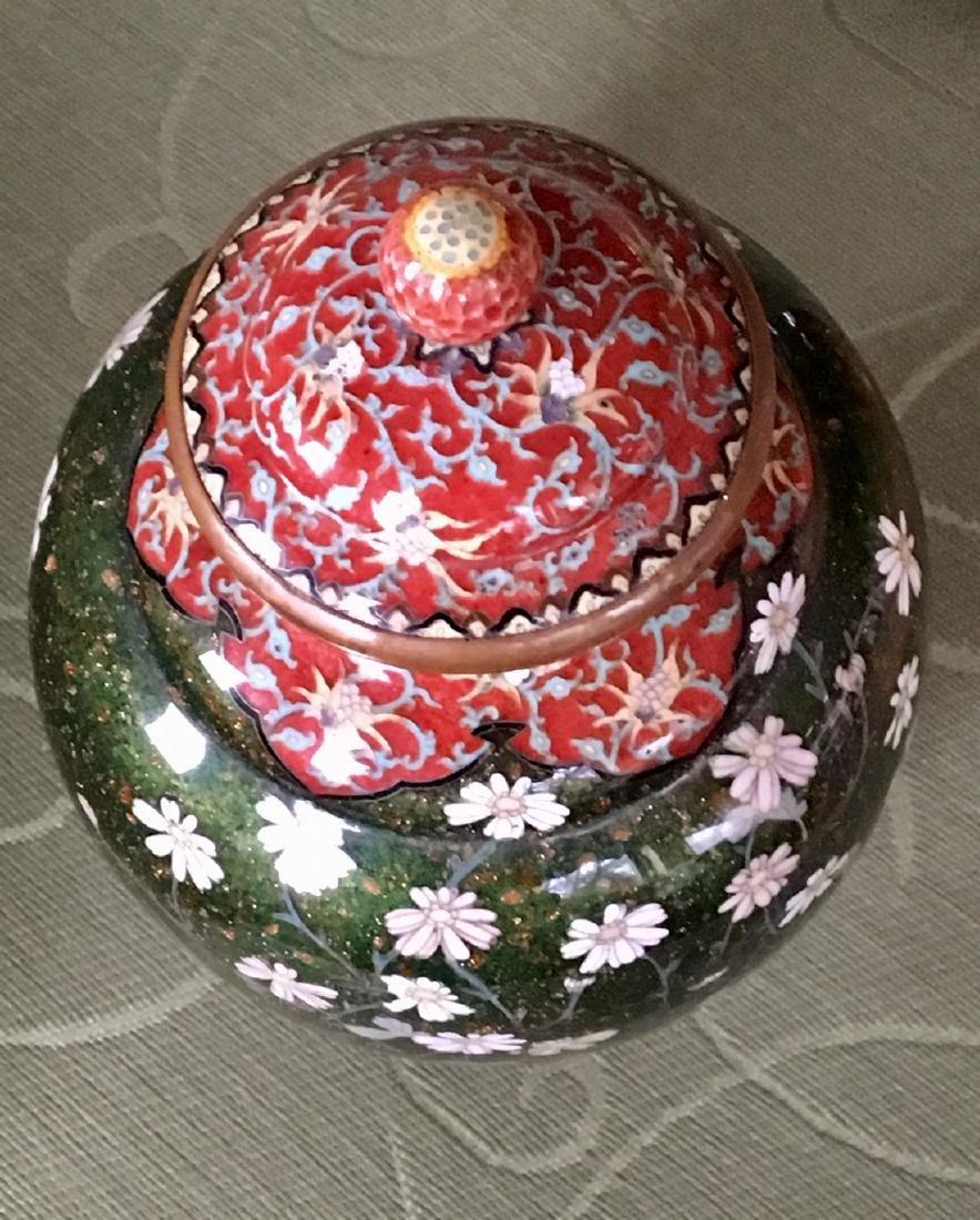 Japanese Meiji Period cloisonne Vase - 4