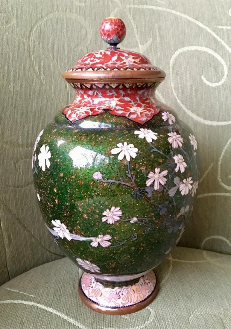 Japanese Meiji Period cloisonne Vase - 5